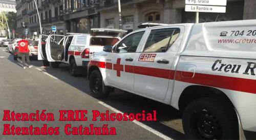 Atención ERIE Psicosocial atentados Cataluña