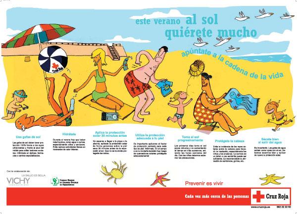 """Cartel de la campaña """"Este verano quiérete mucho""""."""