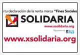 """Imagen de la campaña """"Marca la X Solidaria"""""""