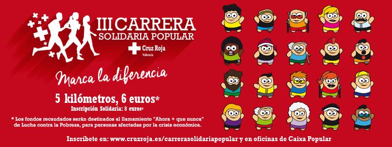 Carrera solidaria popular cruz roja valencia for Oficinas de la caixa en valencia