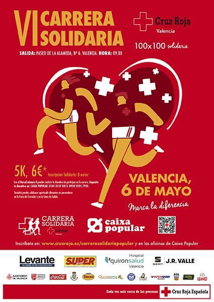 180409 cartel - CARRERA DE CRUZ ROJA VALENCIA 2018