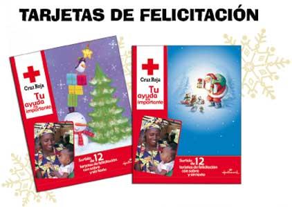 Tarjetas navidad cruz roja