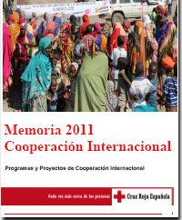 Memoria 2011. Cooperación Internacional