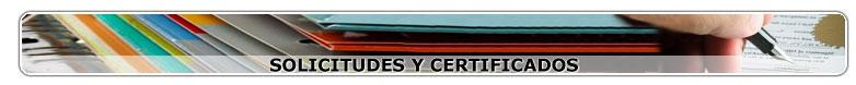 Solicitudes y Certificados